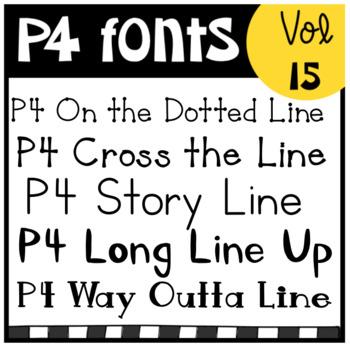 P4 FONTS Volume #15 (p4 Clips Trioriginals)