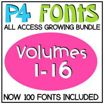 P4 FONTS ALL ACCESS GROWING BUNDLE (P4 Clips Trioriginals)