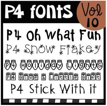 P4 FONTS Vol #10 (P4 Clips Trioriginals)