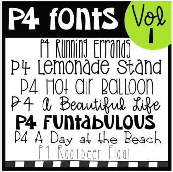 P4 FONTS Volume #1 (P4 Clips Trioriginals)