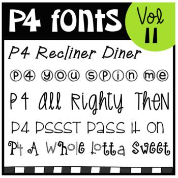 P4 FONTS Volume #11 (P4 Clips Trioriginals)