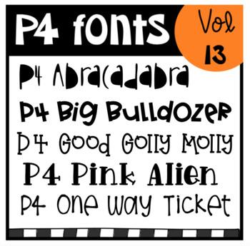 P4 FONTS Volume #13 (P4 Clips Trioriginals)