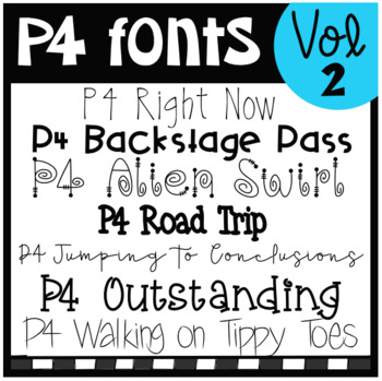 P4 FONTS Volume #2 (P4 Clips Trioriginals)