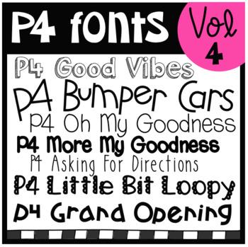 P4 FONTS Volume #4 (P4 Clips Trioriginals)