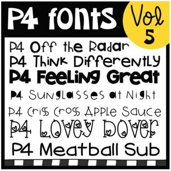 P4 FONTS Volume #5 (P4 Clips Trioriginals)
