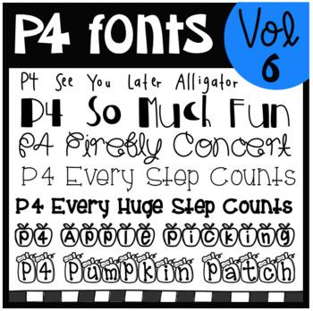 P4 FONTS Volume #6 (P4 Clips Trioriginals)