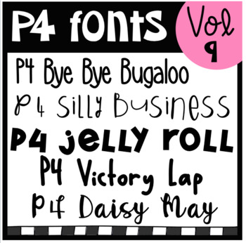 P4 FONTS Volume #9 (P4 Clips Triorginals)