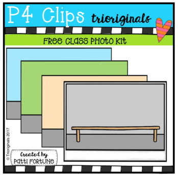 P4 FREE Class Photo Kit (P4 Clips Trioriginals Clip Art)