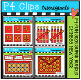 P4 FUN SIZE Chinese New Year BUNDLE (P4 Clips Trioriginals Clip Art)