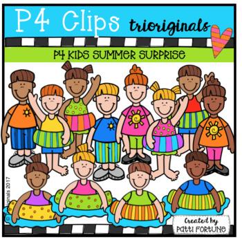 P4 KIDS Summer Surprise (P4 Clips Triorignals Clip Art)