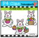 P4 MINI Dotty Bunny (P4 Clips Trioriginals) EASTER CLIPART