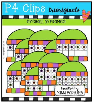 P4 MINI Super Set (Eyeballs) P4 Clips Trioriginals Digital Clip Art
