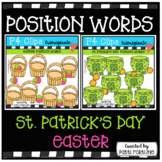 P4 POSITION WORDS (Easter St / Patrick's Day Bundle) P4 Cl