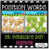 P4 POSITION WORDS (Easter St / Patrick's Day Bundle) P4 Clips Trioriginals