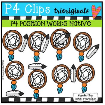 P4 POSITION WORDS Native (P4 Clips Trioriginals)