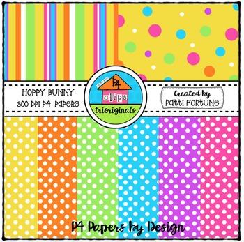 P4 Paper Hoppy Bunny {P4 Clips Trioriginals Digital Clip Art}
