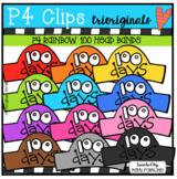 P4 RAINBOW 100 Head Bands (P4 Clips Trioriginals)