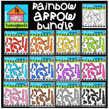 P4 RAINBOW Arrow GROWING BUNDLE (P4 Clips Trioriginals)