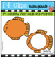 P4 RAINBOW BIGGY Fish Solids and Frames (P4 Clips Trioriginals) RAINBOW CLIPART