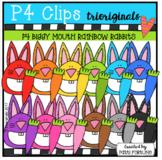 P4 RAINBOW BIGGY MOUTH Rabbits (P4 Clips Trioriginals)
