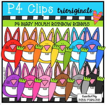 P4 RAINBOW BIGGY MOUTH Rabbits (P4 Clips Trioriginals)