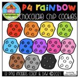 P4 RAINBOW Chocolate Chip Cookies (P4 Clips Trioriginals)