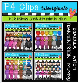 P4 RAINBOW Costume Kids BUNDLE