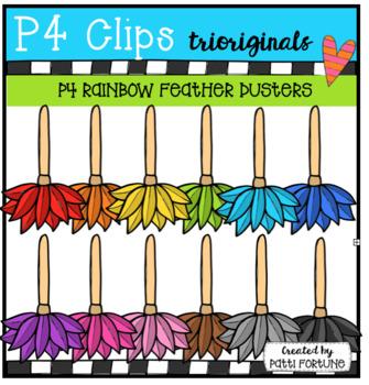 P4 RAINBOW Feather Dusters (P4 CLips Trioriginals)