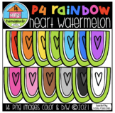 P4 RAINBOW Heart Watermelon (P4 Clips Trioriginals) SUMMER
