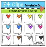 P4 RAINBOW I Heart Speech Bubbles (P4Clips Trioriginals) R