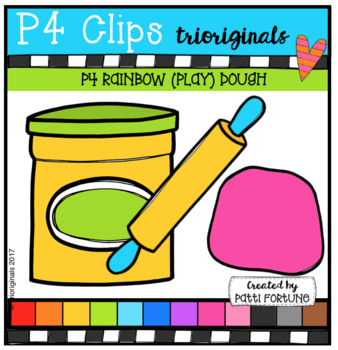 P4 RAINBOW (Play) DOUGH (P4 Clips Trioriginals Clip Art)