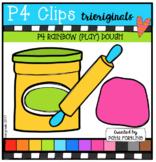 P4 RAINBOW (Play) DOUGH (P4 Clips Trioriginals Clip Art)