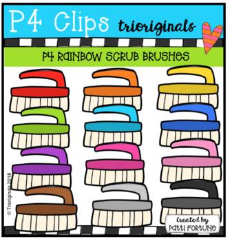 P4 RAINBOW Scrub Brush (P4 CLips Trioriginals)