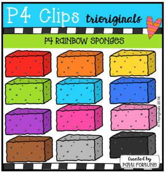 P4 RAINBOW Sponges (P4 Clips Trioriginals)