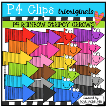P4 RAINBOW Stripey Arrows (P4 Clips Trioriginals)