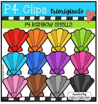 P4 RAINBOW Summer Shells (P4 Clips Trioriginals)