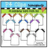 P4 RAINBOW Tape Post Its (P4 Clips Trioriginals) RAINBOW CLIPART