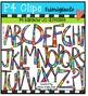 P4 RAINBOW UC and LC Alphabets {P4 Clips Trioriginals Digital Clip Art}
