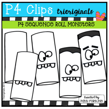 P4 SEQUENCE Toilet Paper Roll Monsters (P4 Clips Trioriginals)