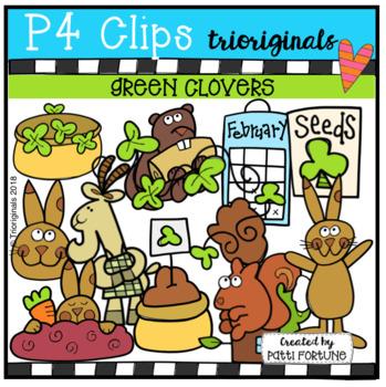 P4 STORY TIME Green Clovers (P4 Clips Trioriginals)