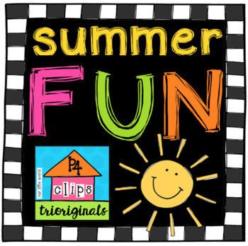 P4 SUMMER FUN Surprise BUNDLE (P4 Clips Trioriginals Clip Art)