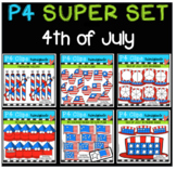 P4 SUPER SET 4th of July (P4 Clips Trioriginals Clip Art)