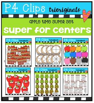 P4 SUPER SET Apple Time (P4 Clips Trioriginals Digital Clip Art)