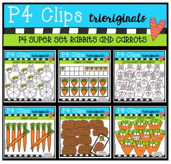 P4 SUPER SET Bunnies and Carrots (P4 Clips Trioriginals)