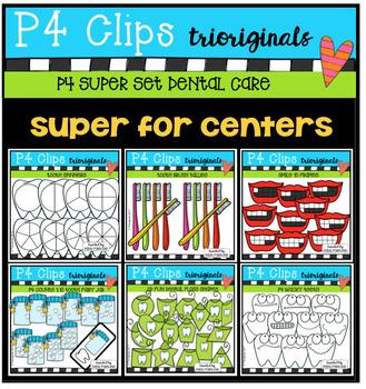 P4 SUPER SET Dental Care (P4 Clips Trioriginals Clip Art)