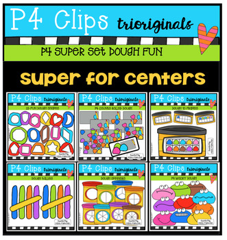 P4 SUPER SET Dough Fun (P4 Clips Triorignals Clip Art)