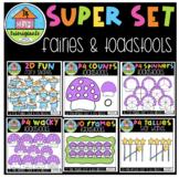 P4 SUPER SET Fairies and Toadstools (P4 Clips Trioriginals