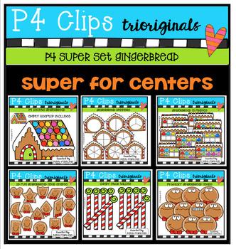 P4 SUPER SET Gingerbread (P4 Clips Trioriginals Digital Clip Art)