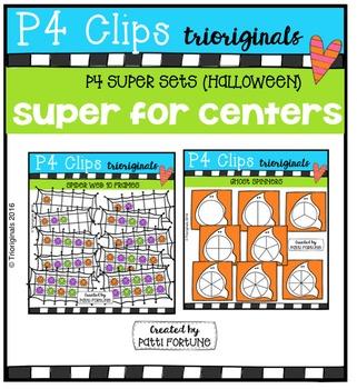 P4 SUPER SET Halloween (P4 Clips Trioriginals Digital Clip Art)