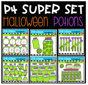 P4 SUPER SET Halloween Potions (P4 Clips Trioriginals)